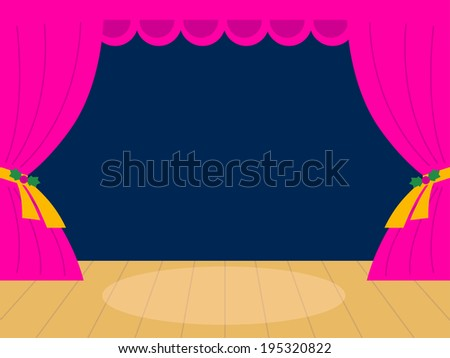 Pink Theater background with copy space  - stock vector
