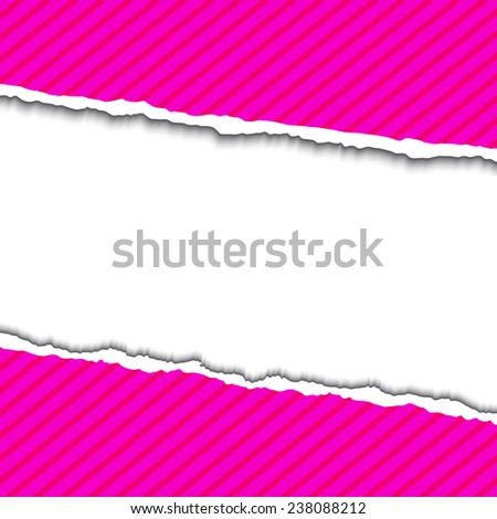 Pink Torn paper background with space for your text. Vector EPS10 illustration. Design elements - paper with ripped edges - stock vector