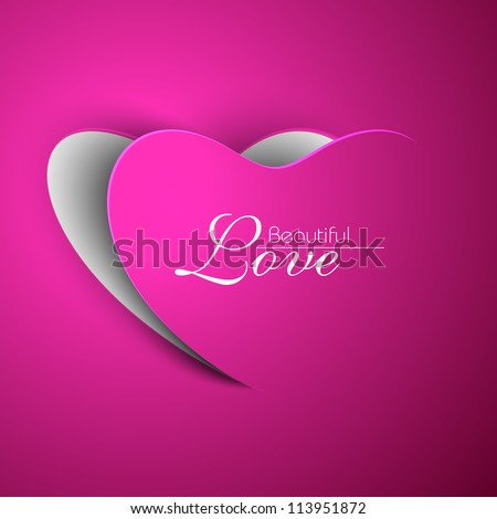 Pink Valentine Heart. EPS 10. - stock vector