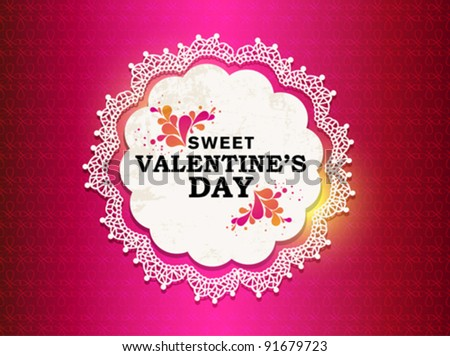 Pink Valentine's Day - stock vector