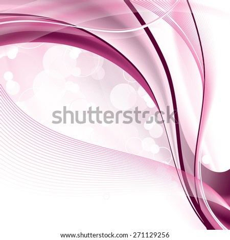 Pink Vector Background. Abstract Wavy Illustration. - stock vector
