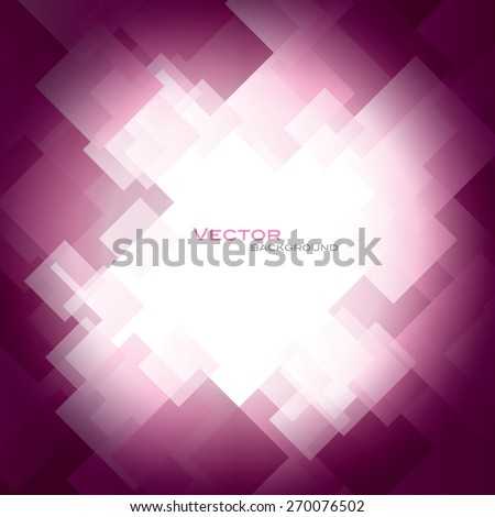 Pink Vector Background with Shiny Squares. - stock vector