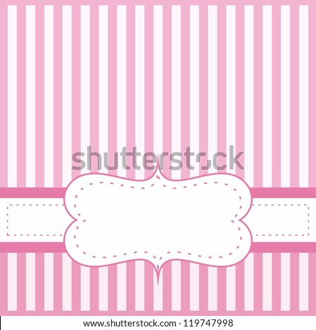 Pink vector card invitation baby shower stock vector 119747998 pink vector card or invitation for baby shower wedding or birthday party with white stripes stopboris Images