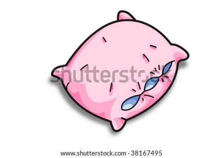 pink vector pillow - stock vector