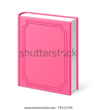 Pink vintage book vector illustration