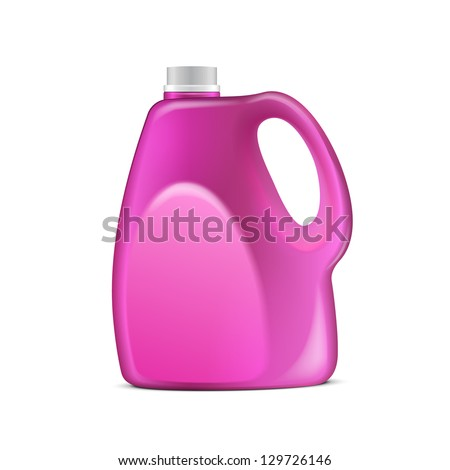 Pink Violet Plastic Jerrycan On White Background Isolated. Ready For Your Design. Product Packing Vector EPS10