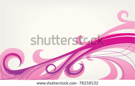 pink wave, abstract vector background