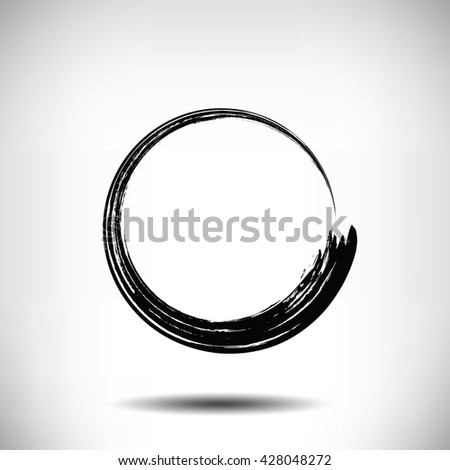 Pinstripe circle grunge black background