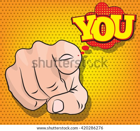Pinup style you finger uncle sam i want you message - stock vector