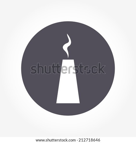 pipe and smoke icon - stock vector