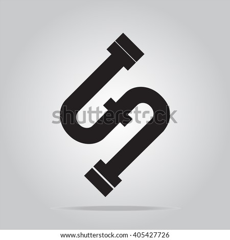 Pipe icon sign vector illustration - stock vector
