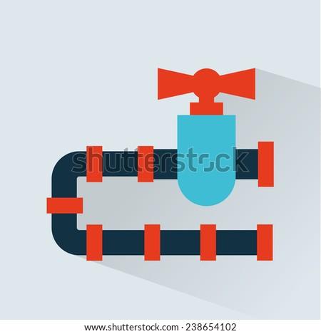 pipeline  icon design - stock vector