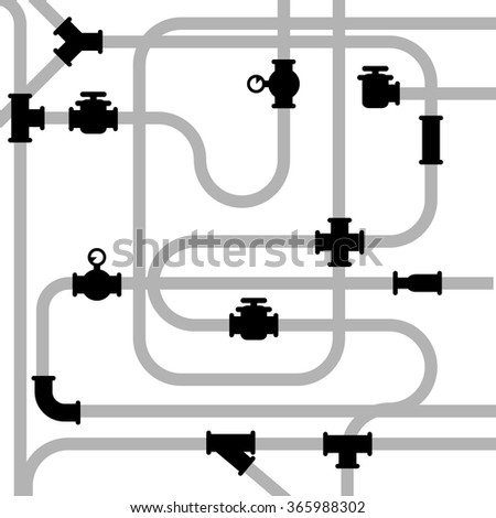 Pipeline junctions with valves and stopcock