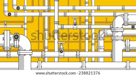Pipes background - stock vector