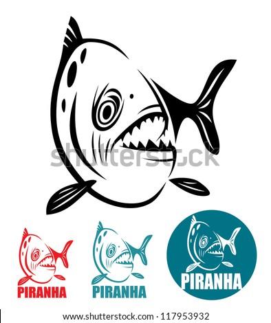 Piranha fish - vector illustration - stock vector
