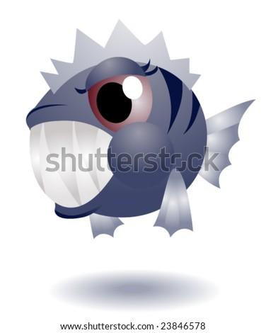 Piranha - Vector - stock vector