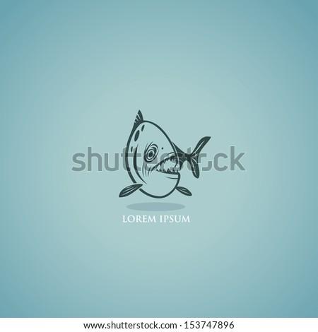 Piranha - vector illustration - stock vector