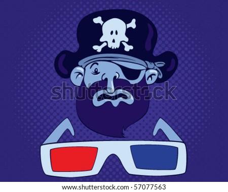 Pirate. - stock vector