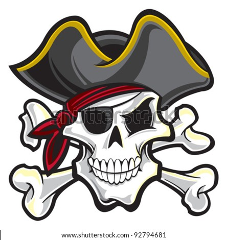 Pirate face vector - photo#5