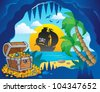Pirate cove theme image 1 - vector illustration. - stock vector