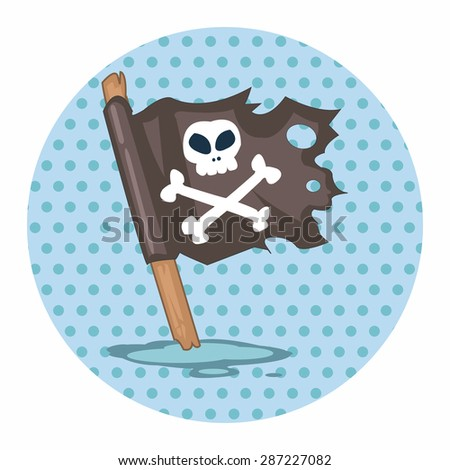 pirate flags theme elements - stock vector