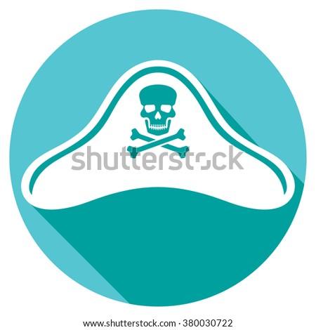 pirate hat icon (pirate's hat symbol) - stock vector