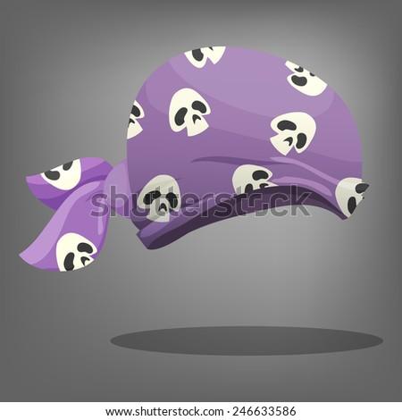 Pirate hat. Vector illustration. - stock vector