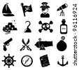 Pirate icons - stock photo