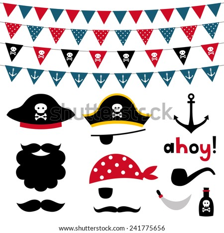 Pirate Photo Booth Backdrop Pirate Photo Booth Props And