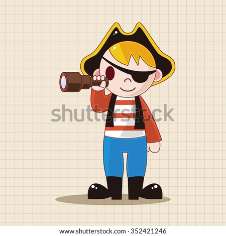 pirate theme elements - stock vector