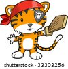 Pirate Tiger Vector Illustration - stock vector