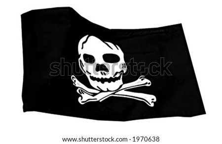 Pirate vector flag - stock vector