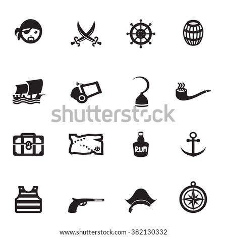 Pirates Icons Vector files.