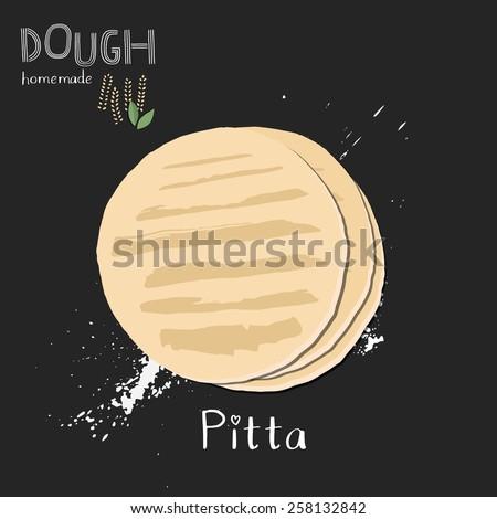 Pita bread illustration. - stock vector