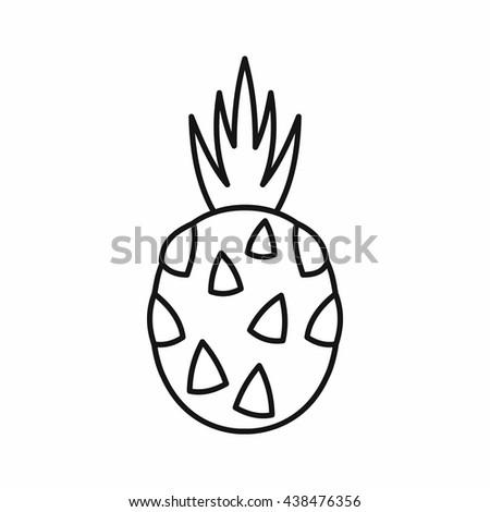 Pitaya, dragon fruit icon, outline style - stock vector