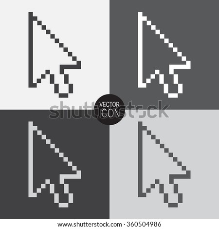 Pixel arrow cursor. Vector icon.