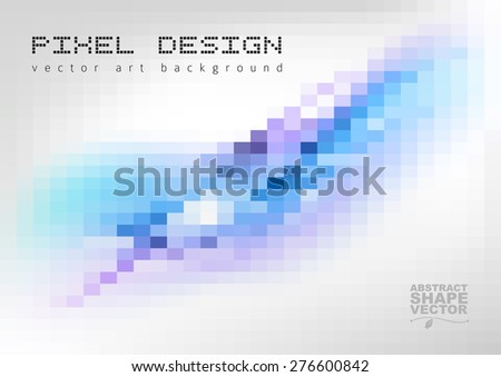 Pixel art background. Vector mosaic design elements. - stock vector