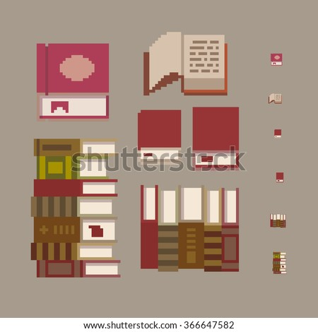 Illustration Interior Icons Top View Furniture Stock