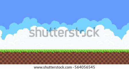 pixel art game background ground grass stock vector royalty free
