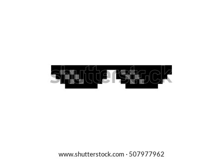 Thug stock images royalty free images vectors shutterstock pixel art glasses of thug life meme isolated on white background vector illustration voltagebd Images