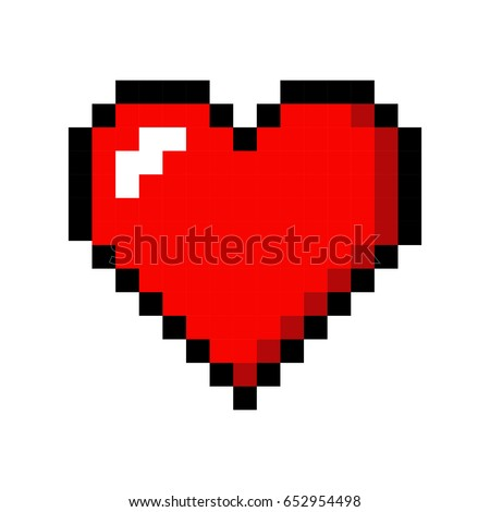 pixel art heart love color icon 652954498 shutterstock. Black Bedroom Furniture Sets. Home Design Ideas