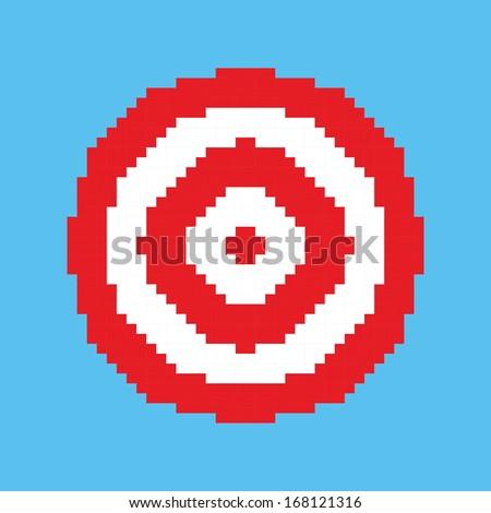 Pixel art vector target - stock vector