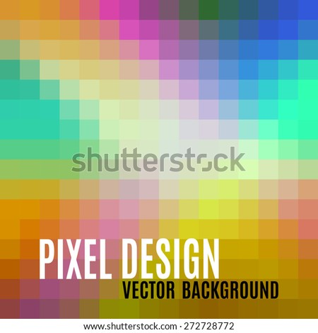 Pixel design. Abstract vector background with crazy pastel colors. - stock vector