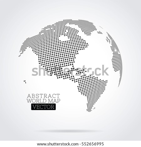 Pixel dot world map made squares stock vector 552656995 shutterstock gumiabroncs Choice Image
