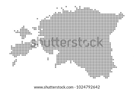 Pixel map of Estonia. Vector dotted map of Estonia isolated on white background. Abstract computer graphic of Estonia map. vector illustration.