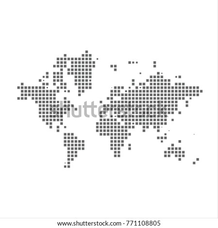 Pixel map world vector dotted map stock vector royalty free pixel map of world vector dotted map of world isolated on white background world gumiabroncs Choice Image