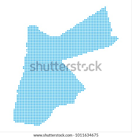 Pixel Mosaic Blue Dot Map On Stock Vector 1011634675 Shutterstock