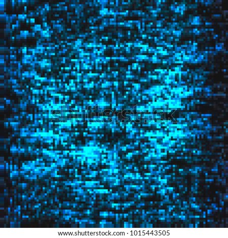 Pixel Mosaic Dark Blue Poster Squares Abstract Black And Aqua Background Pattern For