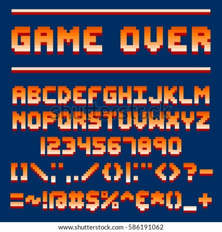 Game Font Stock Images, Royalty-Free Images & Vectors | Shutterstock
