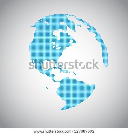 Pixel vector Earth - stock vector